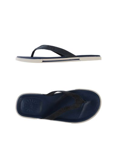 UGG AUSTRALIA メンズ トングサンダル ブルー 7 革