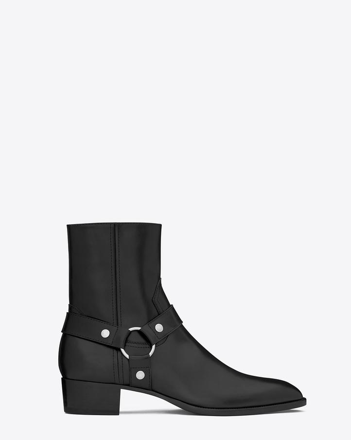 Saint Laurent Classic Wyatt 40 Harness Boot In Black