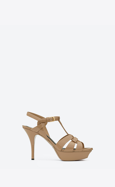 SAINT LAURENT Tribute D CLASSIC TRIBUTE 75 SANDAL IN dark Powder Patent LEATHER a_V4