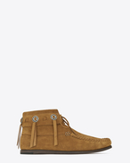 Concho Mocassin Desert Ankle Boot in TAN Suede