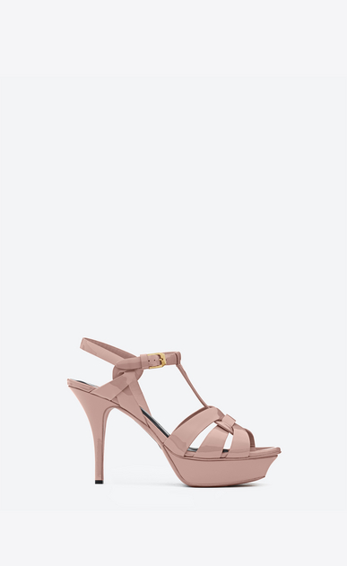 SAINT LAURENT Tribute D Classic Tribute 75 Sandal in Pale blush Patent Leather a_V4