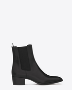 SAINT LAURENT Flat Booties D CHELSEA 40 WYATT BOOT in black leather f