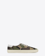 SKATE LACE-UP SNEAKER IN Khaki Camouflage Printed CANVAS Gabardine