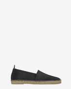 SAINT LAURENT Casual Shoes U Espadrille in Black Leather f