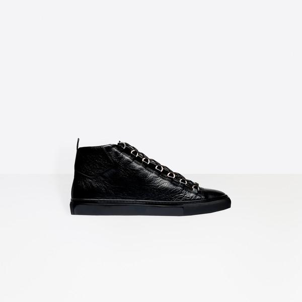 Sneakers alte effetto lucido