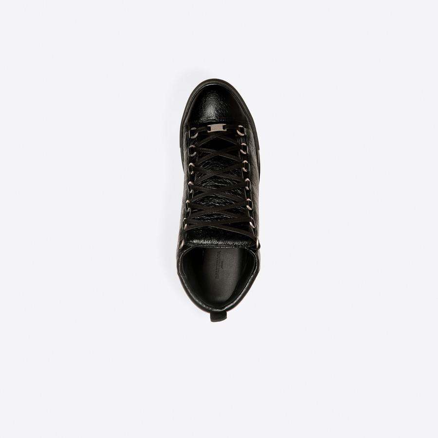 BALENCIAGA Shiny effect High Sneakers Arena Sneakers U e