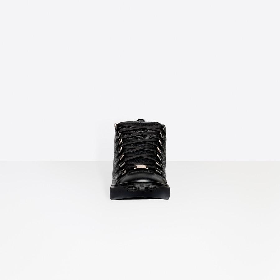 BALENCIAGA Shiny effect High Sneakers Arena Sneakers U i