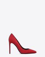 SAINT LAURENT High Heel Court D classic paris skinny 105 pump in red suede f