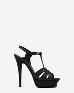 SAINT LAURENT Sandals D Classic Tribute 105 Sandal in Black Leather f