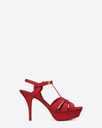 SAINT LAURENT Tribute D CLASSIC TRIBUTE 75 SANDAL IN red LEATHER f