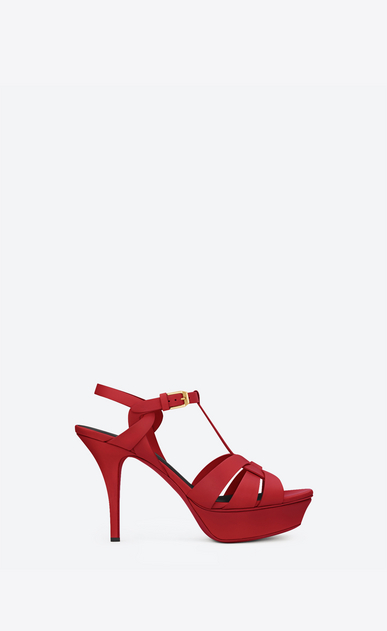 SAINT LAURENT Tribute D SANDALE tribute 75 en cuir rouge a_V4