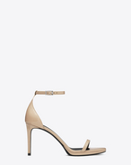 SAINT LAURENT Jane D CLASSIC JANE 80 ANKLE STRAP SANDAL IN POWDER PATENT LEATHER f