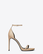 SAINT LAURENT Jane D CLASSIC JANE ANKLE STRAP 105 SANDAL IN POWDER PATENT LEATHER f