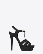 SAINT LAURENT Sandals D CLASSIC TRIBUTE 105 SANDAL IN Black Lizard Embossed Leather f