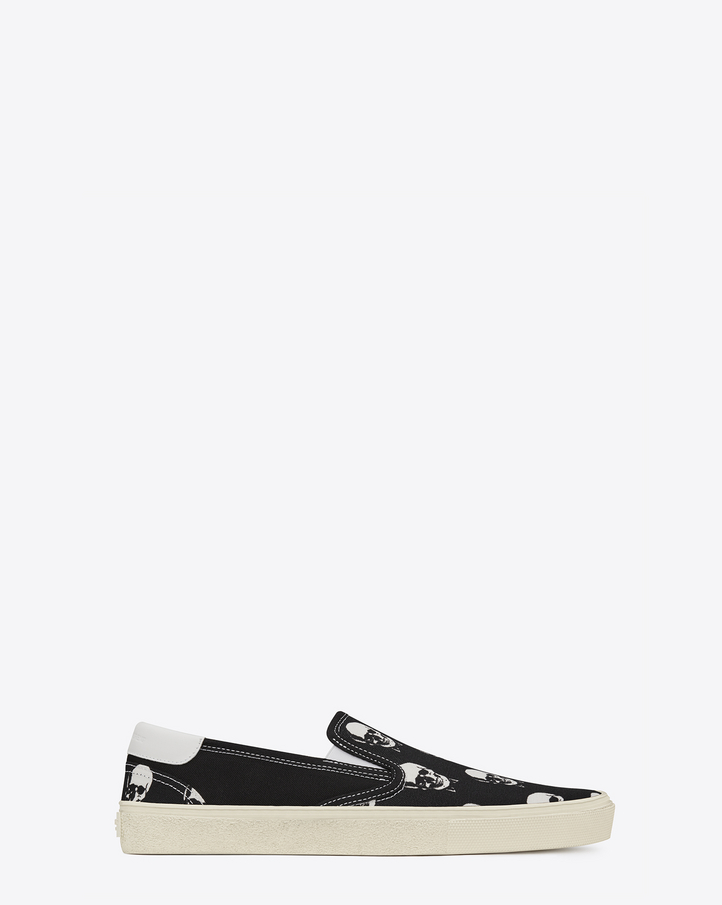 laurent skate slip on sneaker in black and white