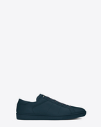 SAINT LAURENT Low Sneakers U SL/01 COURT CLASSIC SNEAKER IN Indigo LEATHER f