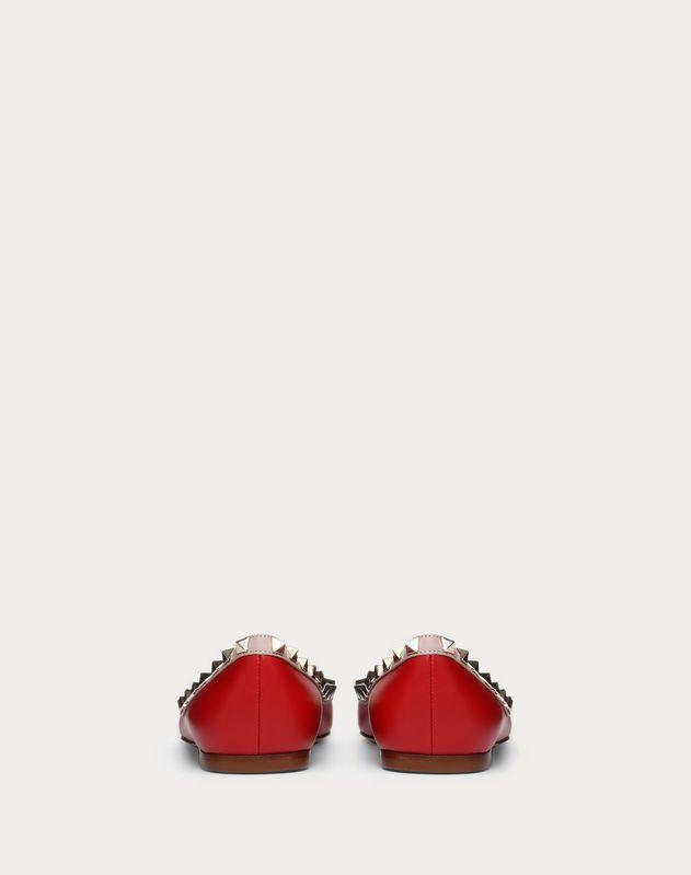 Rockstud 漆皮芭蕾平底鞋