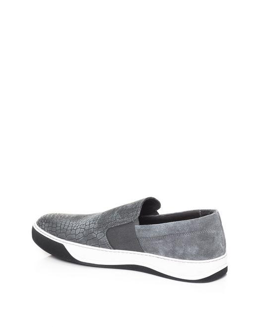 lanvin embossed slip-on sneaker men