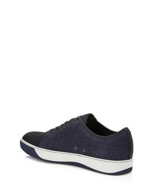 LANVIN DDB1 EMBOSSED CALFSKIN SNEAKER Sneakers U d