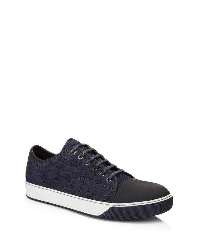 LANVIN DDB1 EMBOSSED CALFSKIN SNEAKER Sneakers U f
