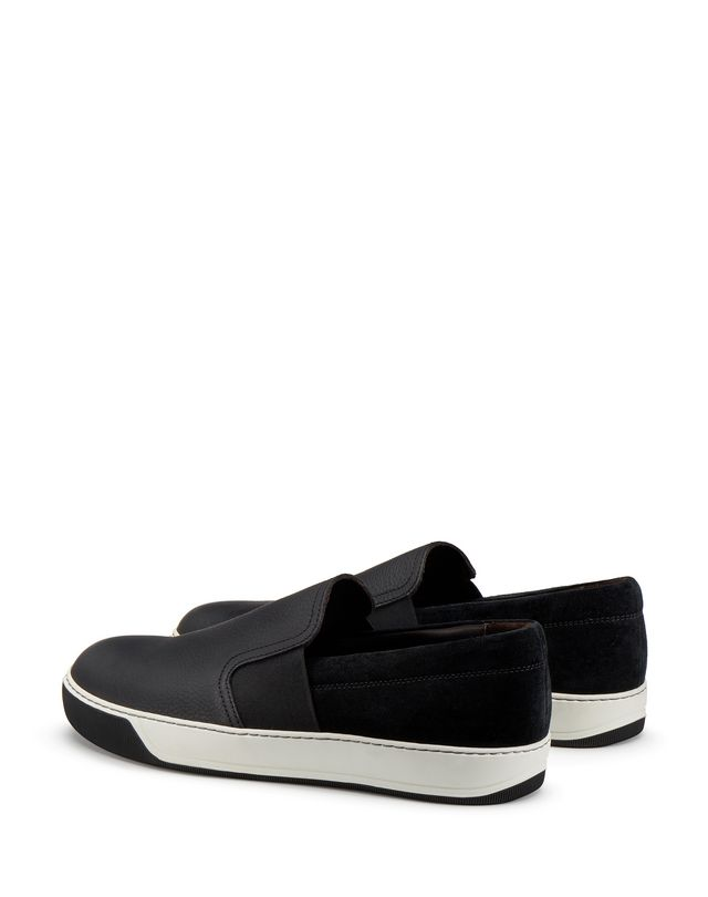 LANVIN GRAINED CALFSKIN SLIP-ON Sneakers U d