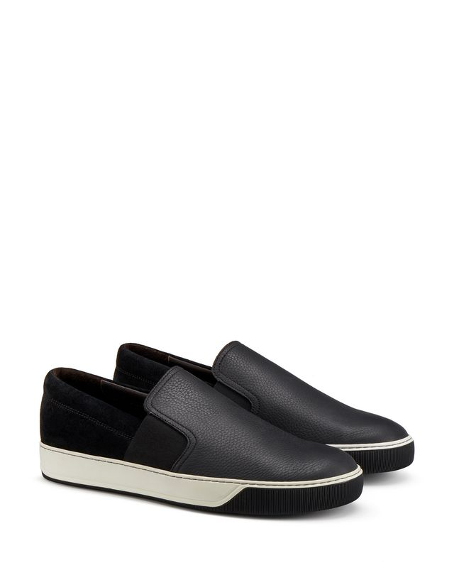 LANVIN GRAINED CALFSKIN SLIP-ON Sneakers U r