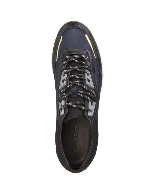 lanvin mesh cross-trainer men