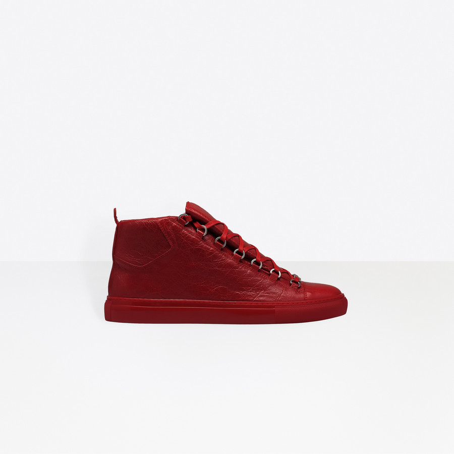 BALENCIAGA Shiny effect High Sneakers Arena Sneakers U f