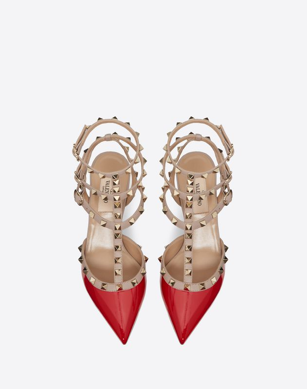 Riemchen-Pumps Rockstud 65 mm
