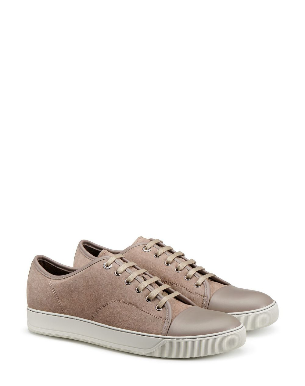 DBB1 SUEDE AND LEATHER TRAINERS - Lanvin