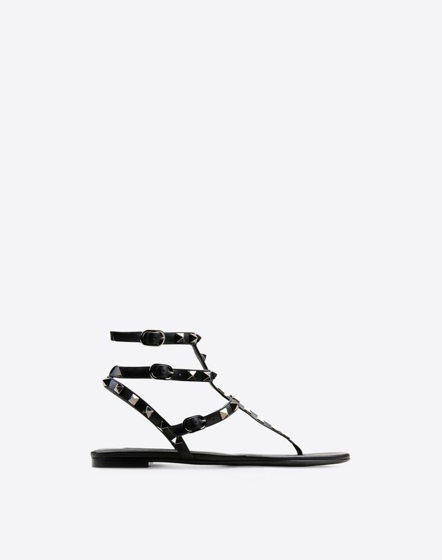 Rockstud Noir flat thong sandal