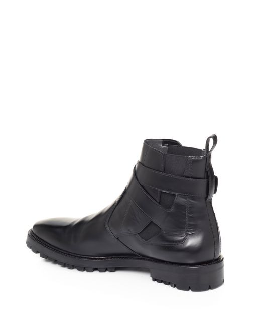 lanvin lambskin chelsea boot men