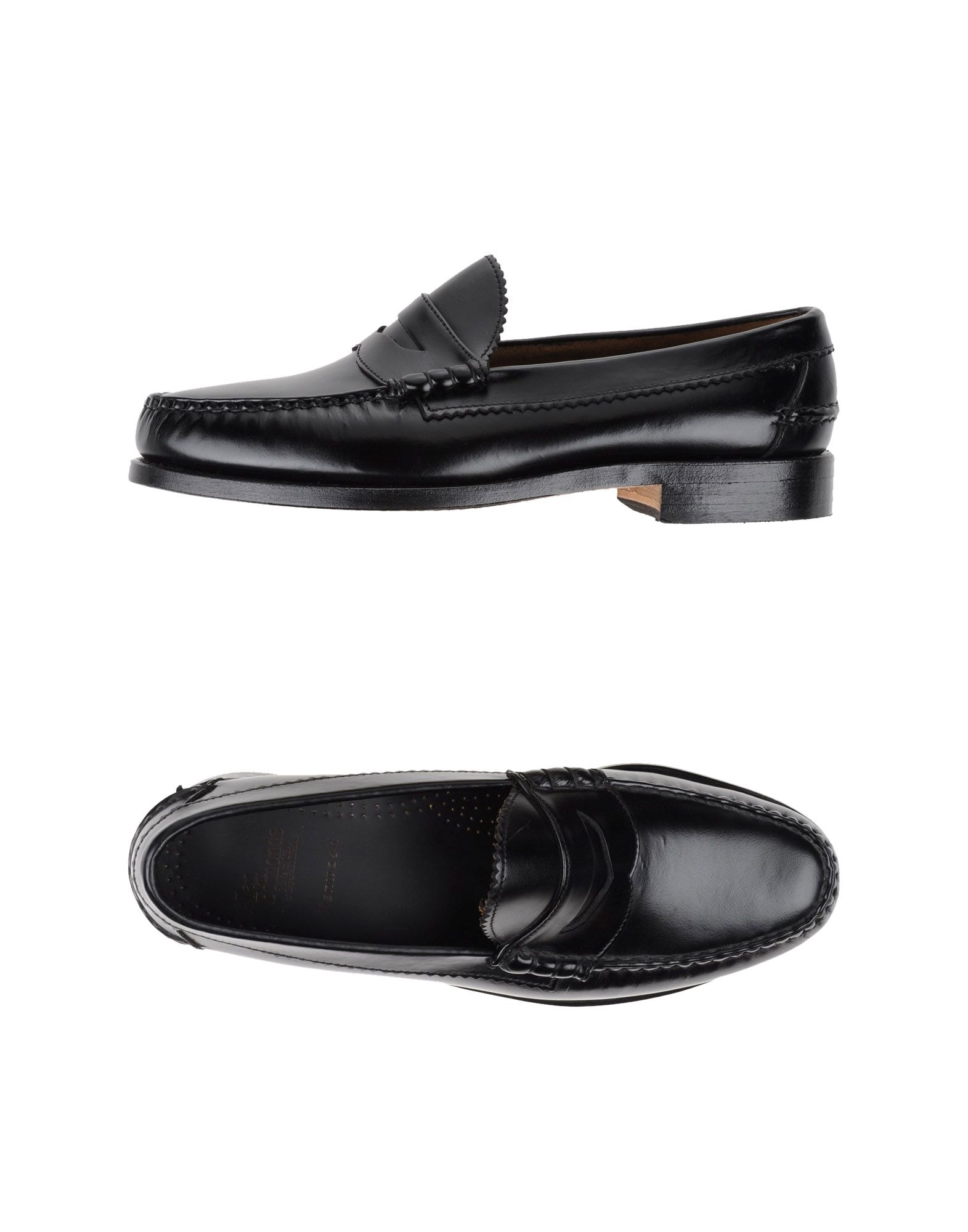 ALLEN EDMONDS Loafers. no appliqués, solid color, round toeline, leather/rubber sole, square heel, small sized. Soft Leather