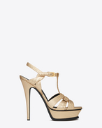 SAINT LAURENT Sandali D Sandali Classic TRIBUTE 105 color oro pallido in lucertola stampata metallizzata f