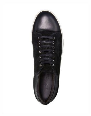 LANVIN SUEDE CALFSKIN MID-TOP SNEAKER Sneakers U r