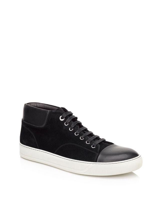 LANVIN SUEDE CALFSKIN MID-TOP SNEAKER Sneakers U f