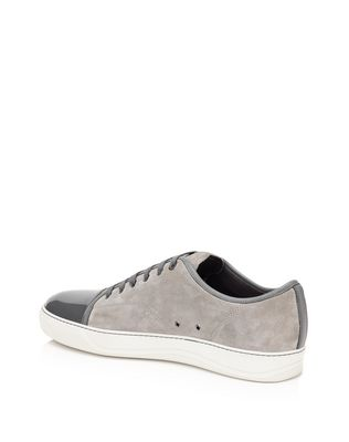 LANVIN Low sneakers in velvet and patent calfskin Sneakers U r