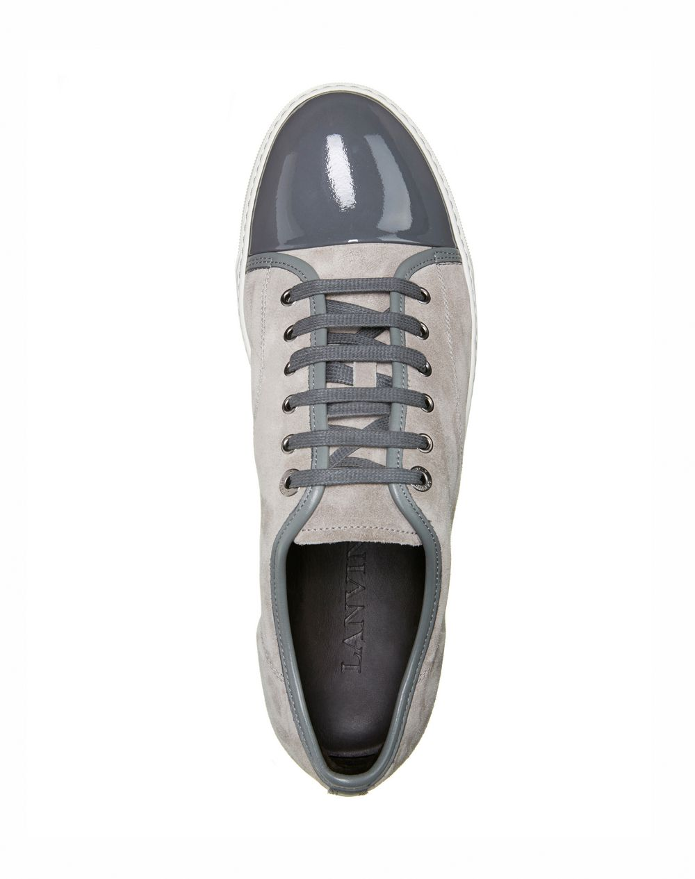 Low sneakers in velvet and patent calfskin - Lanvin