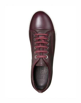 LANVIN Low sneakers in brilliant grain calfskin and nappa calfskin Sneakers U d