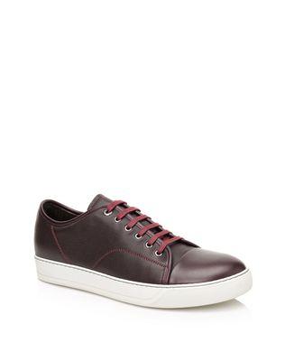 LANVIN Low sneakers in brilliant grain calfskin and nappa calfskin Sneakers U f