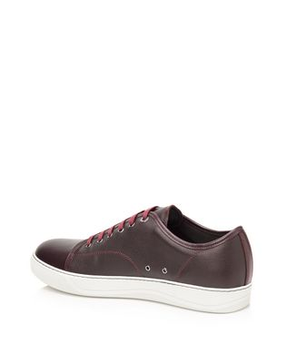 LANVIN Low sneakers in brilliant grain calfskin and nappa calfskin Sneakers U r