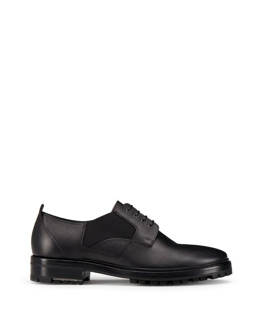 lanvin shiny calfskin derby men