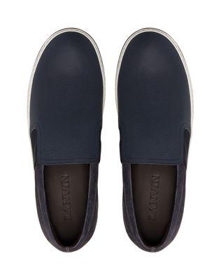 LANVIN GRAINED CALFSKIN SLIP-ON Sneakers U a
