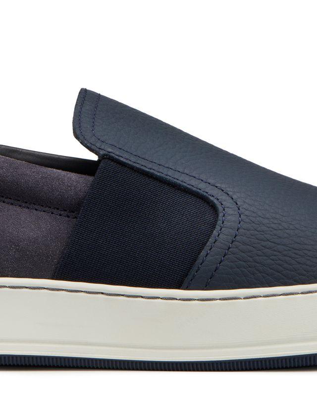 LANVIN GRAINED CALFSKIN SLIP-ON Sneakers U e
