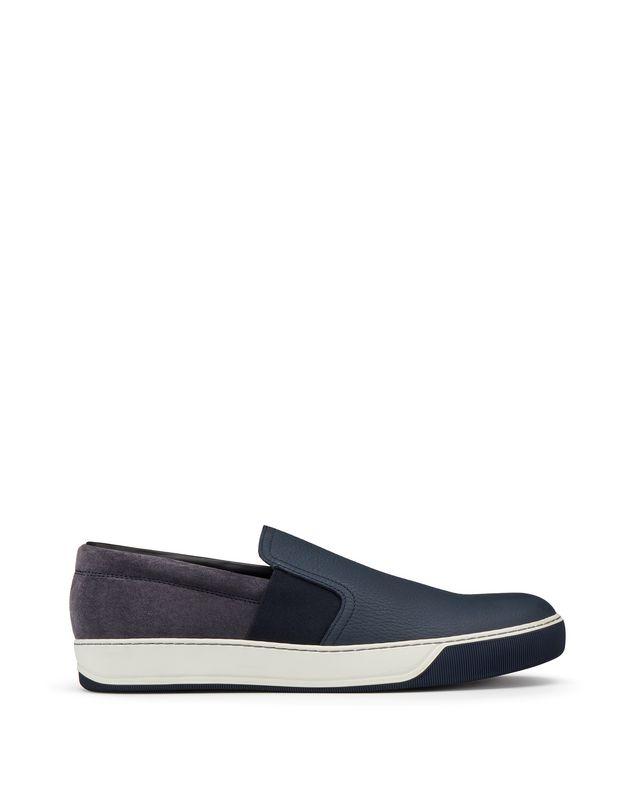 LANVIN GRAINED CALFSKIN SLIP-ON Sneakers U f