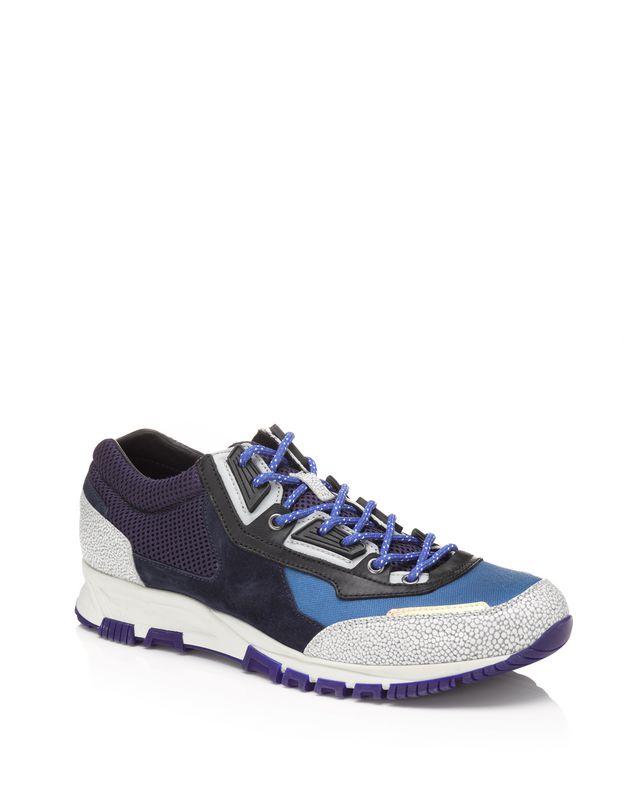 LANVIN Runners in metallic fabric and sport mesh Sneakers U f