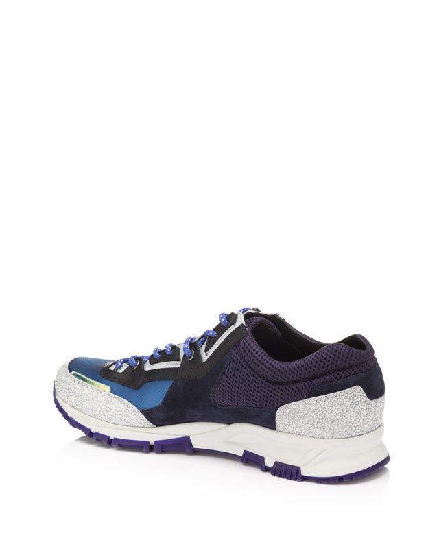 LANVIN Runners in metallic fabric and sport mesh Sneakers U r