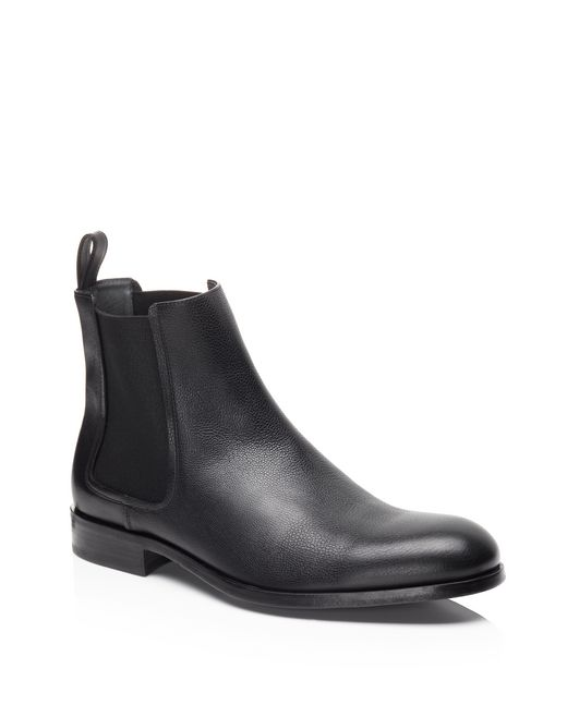 lanvin bull calf chelsea boot men
