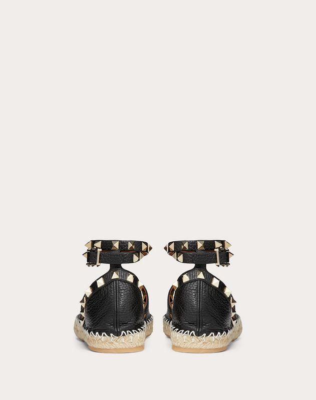 Rockstud Double 粒面小牛皮麻底鞋