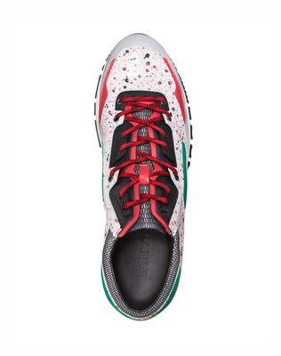 LANVIN Patchwork runners in fluorescent dappled calfskin and metallic calfskin Sneakers U d
